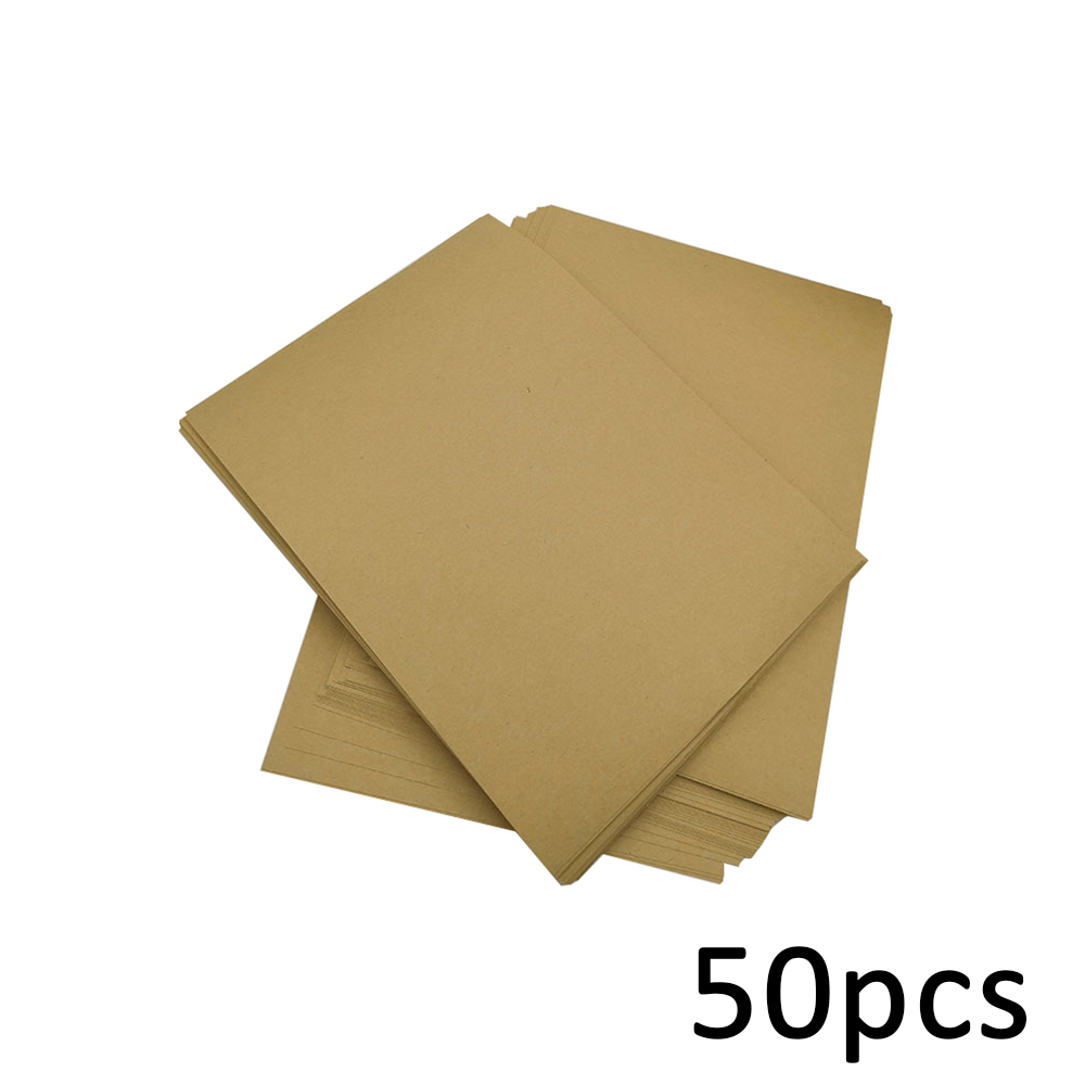 New 50 Sheets A4 Label Sheet Kraft Paper Self-Adhesive Stickers For Inkjet Laser Printer Copier Office Supplies