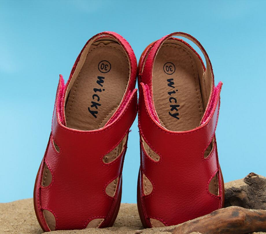 Children's leather sandals-13