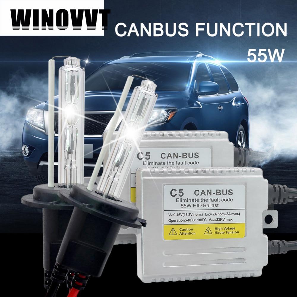 C5 55 W H7 kit xénon HID pour la voiture phare H1 H3 H4 H7 H8 H11 9005 9006 881 D2S ampoule 4300 K 6000 K 8000 K Canbus lampe xénon hid