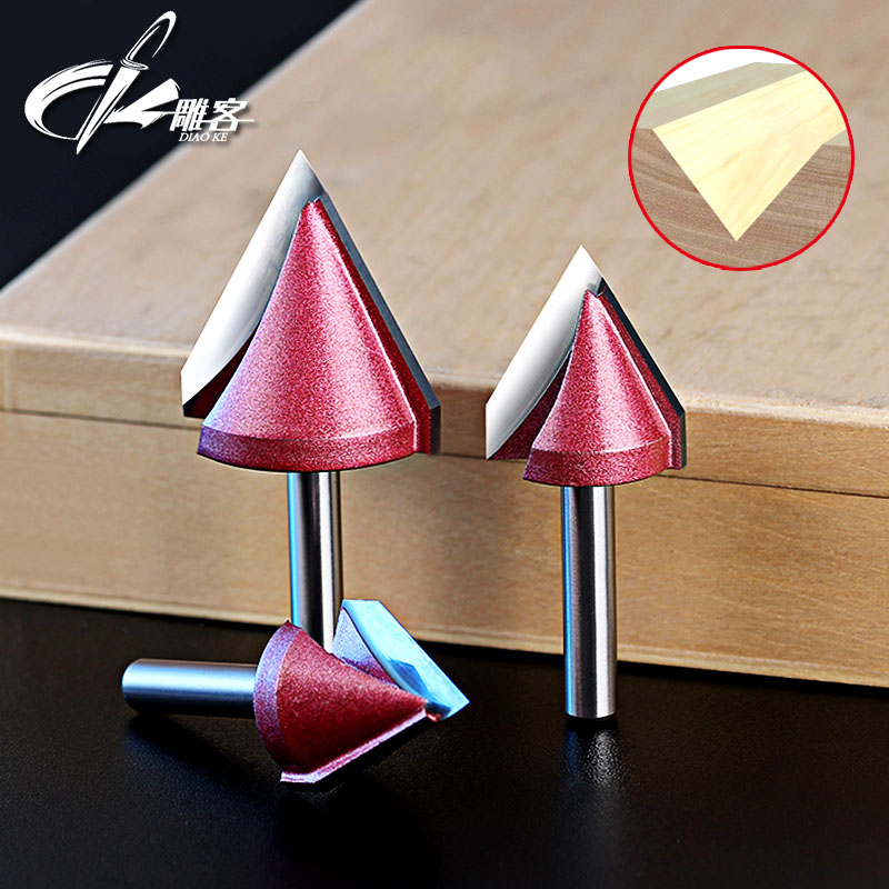 1PCS 6mm shank 3D V Wood Router Bits with 60/90/120/150Degree Cnc Tool Cutting MDF Plywood Plastic Acrylic PVC Clean Blade 10 60 90 120 a wood cnc router bits cutting tools for cnc machine