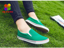 2016 Summer Shallow Mouth Woman Casual Shoes Comfortable Causal Slip On Canvas Women Shoes Female Flats Candy Colors XWF331