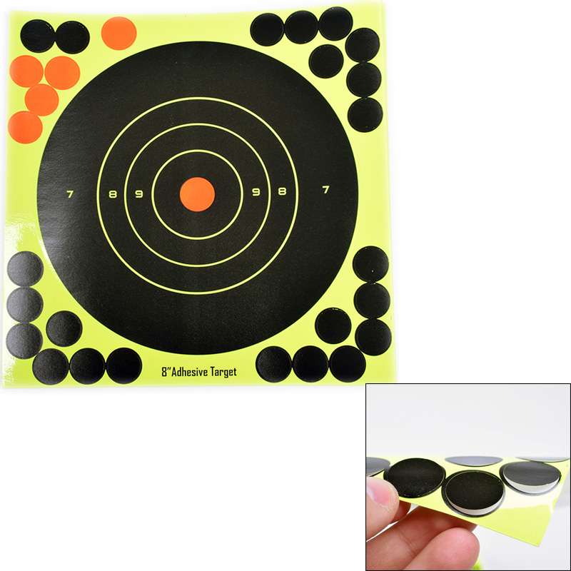 "Details about  /50PCS Shooting Targets Reactive Splatter 8/"" Paper Adhesive Gun Shoot Rifle Relax"