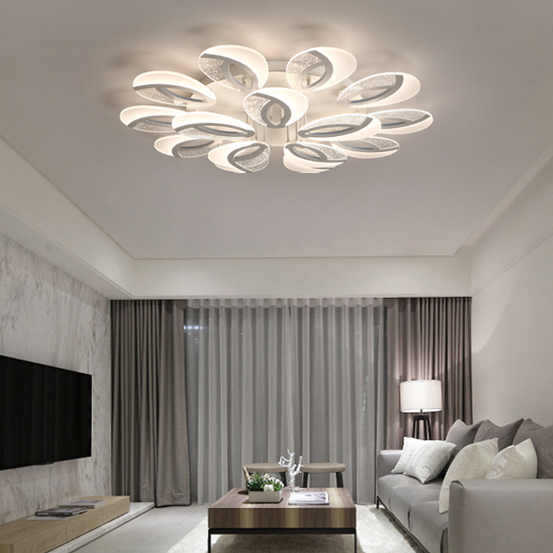 LED Living Room Ceiling Lamps Modern Luminaires Home Fixtures Children Bedroom Ceiling Lighting Iron Acrylic Ceiling Lights