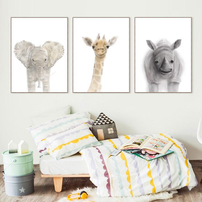 animal canvas print nursery decor
