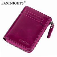EASTNIGHTS 2017 New Women Wallets High Quality Genuine Leather Women Purse With Coin Pocket Card Holder