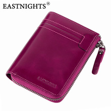 Купить с кэшбэком EASTNIGHTS 2017 New Women Wallets High Quality Genuine Leather Women Purse With Coin Pocket Card Holder Zipper Wallet TW2648