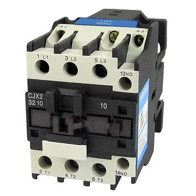 цена на 110V Coil Motor Controler AC Contactor 3 Pole NO N/O 660V 15KW CJX2-3210