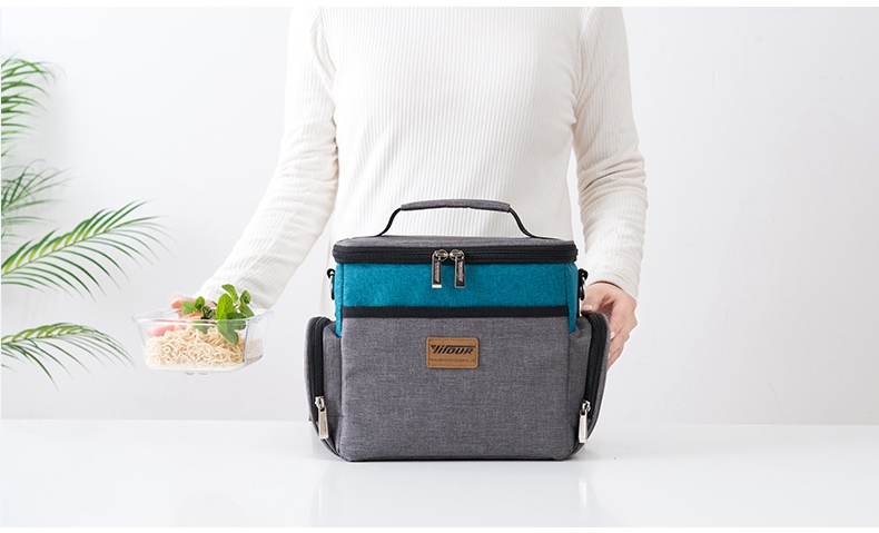new fashion Large capacity lunch bag thermal insulated food bag lunch box for women and kids casual picnic bag good quality