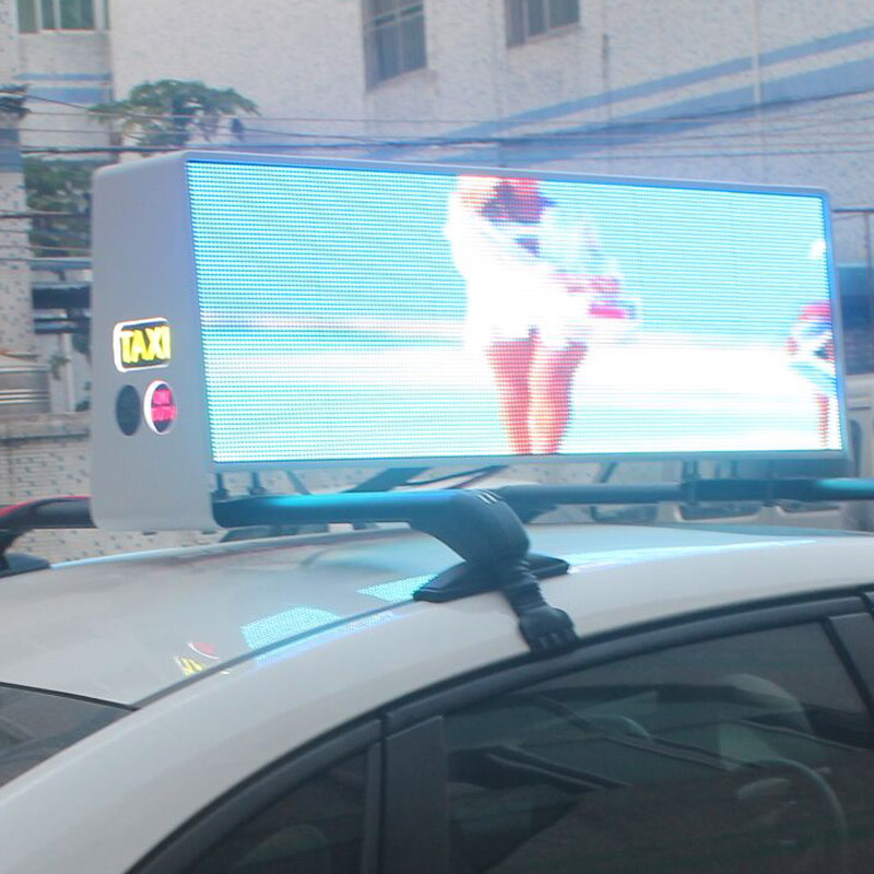 3G 4G Wifi Ultra HD P5 double side car sign  taxi roof top advertising led display screen
