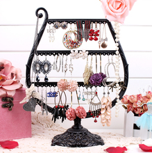 Cup earring show black Jewellery show shelf earring holder jewellery organizer earrings show stand body style rack