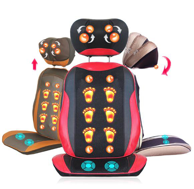 Multifunction home body massage chair cushion neck massager neck waist back enjoy healthy relieve fatigue/ tb 110925 tapping massage cushion 3d new massager whole body massage chair mat for sale