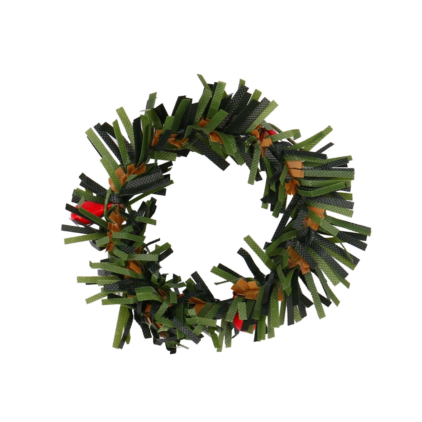 New 10PC Christmas Wreaths Red Ornament Felt Hanging Pendant ...