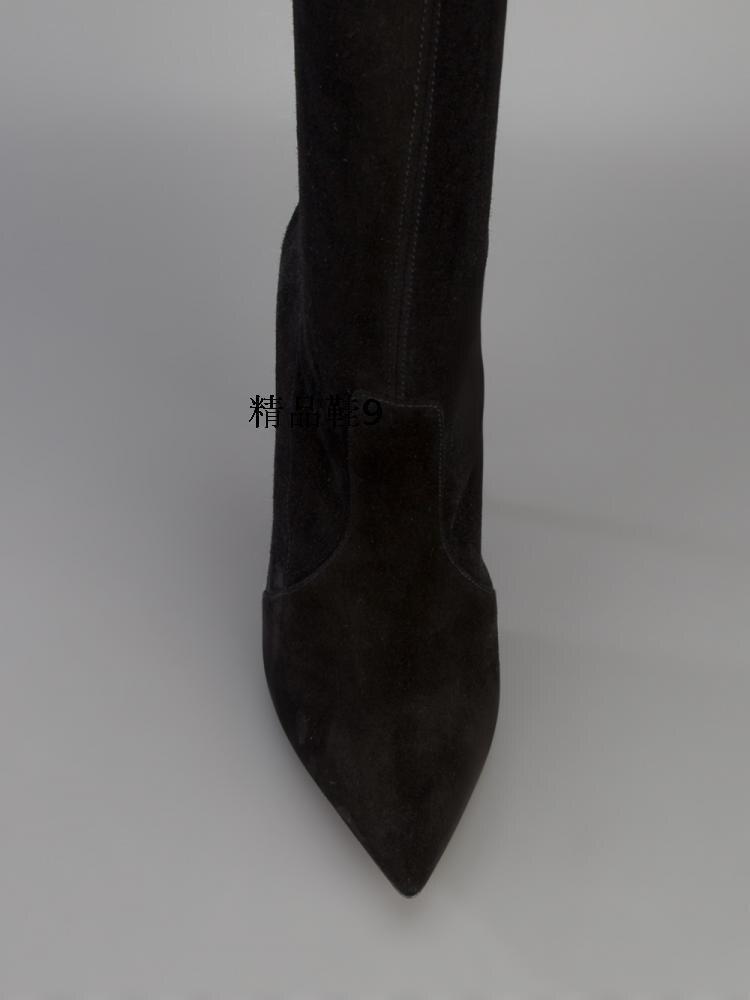 Design Sur Femme Bout Hauts Date Noir Talons la kne As Concise Partie Automne Chaussures Style De Pointu Showed Color Printemps À Célébrités Mode Élégante 8Ppq7wpXU4
