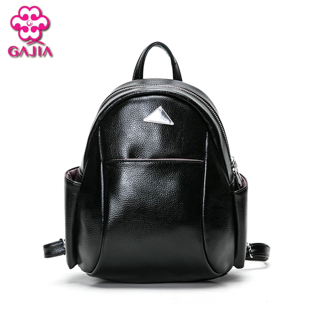 GAJIA New Fashion Women Backpack High Quality PU Leather Patchwork School Bags For Teenagers Girls Top