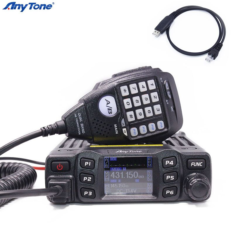 AnyTone AT 778UV Dual Band Mobile Transceiver Radio VHF 136 174MHz UHF 400 480MHz Car Two