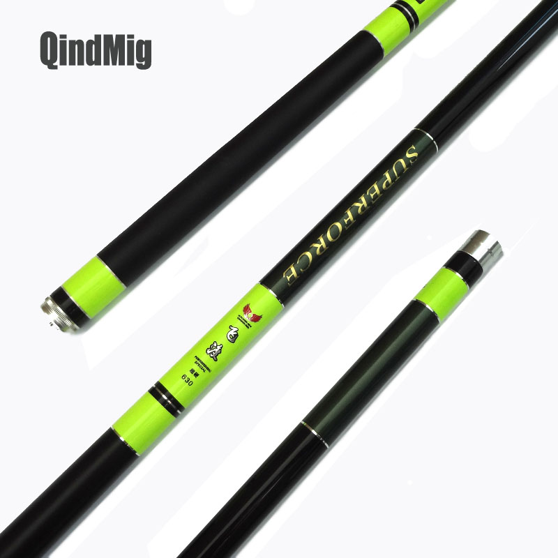 QindMig Telescopic Fishing Pole High Carbon Fiber Superhard Power Hand Rod For Spring And Summer Fishing Rods  Fishing Tackle portable 5 section telescopic fishing rod pole 2 1m length