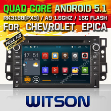 WITSON Android 5.1 CAR DVD GPS for CHEVROLET EPICA/AVEO Capacitive touch screen Cortex A9 Qual-core 1.6G 16GB Rom+Free Shipping