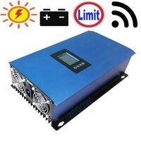 Inversor de conexión de rejilla Solar de 2000 W con limitador para paneles solares, descarga de batería hogar en rejilla conectada 2KW