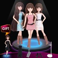 UCanaan Doll 1 PC Fashion DIY Bjd Joint Body Dolls New Year Christmas Brithday Toys Gift