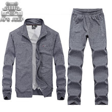 2017 Autumn New Arrival Men's Sets Casual 2 pcs Long Sleeve Men's Brand Clothes Jackets and Pants Male Suit Sweaters & Hoodies