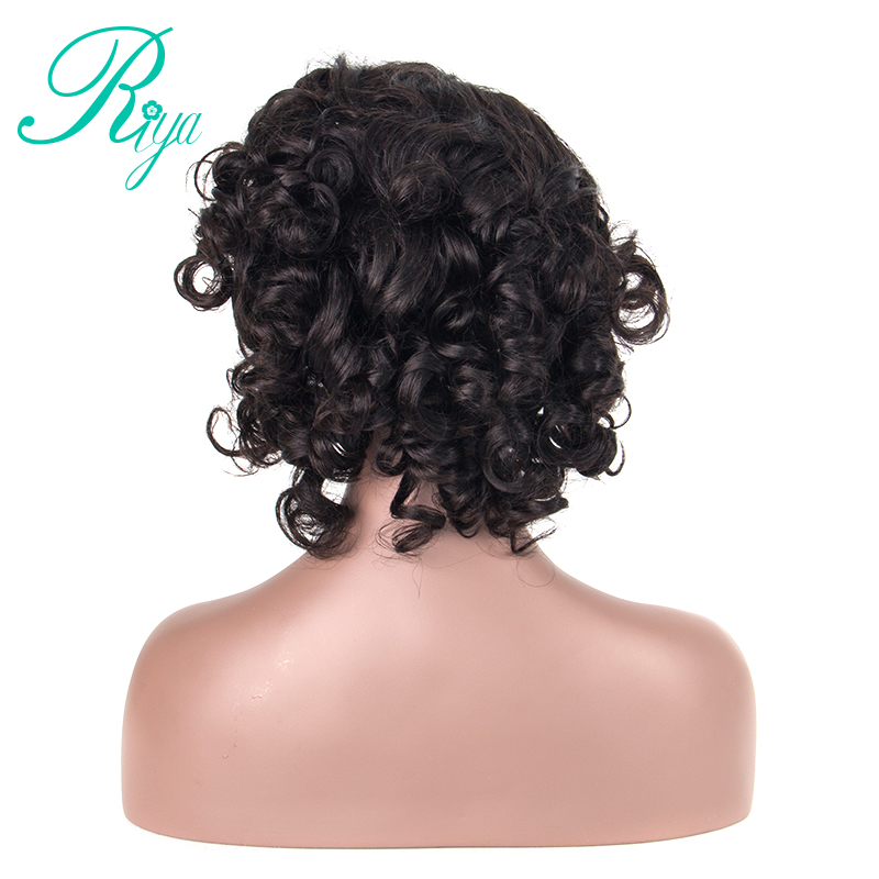 Boucy Curly Human hair Short Bob Wigs 180% Density Lace Front Human Hair Wigs Pre-Plucked Brazilian Remy Hair Wigs