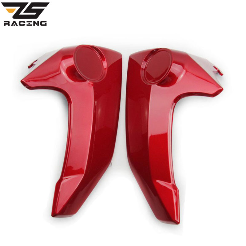 ZS-Racing 2 Pieces / Lot Red Color Motorcycle Side Cover Fairing Used For Yamaha FZ 16 FZ16 Motorbike