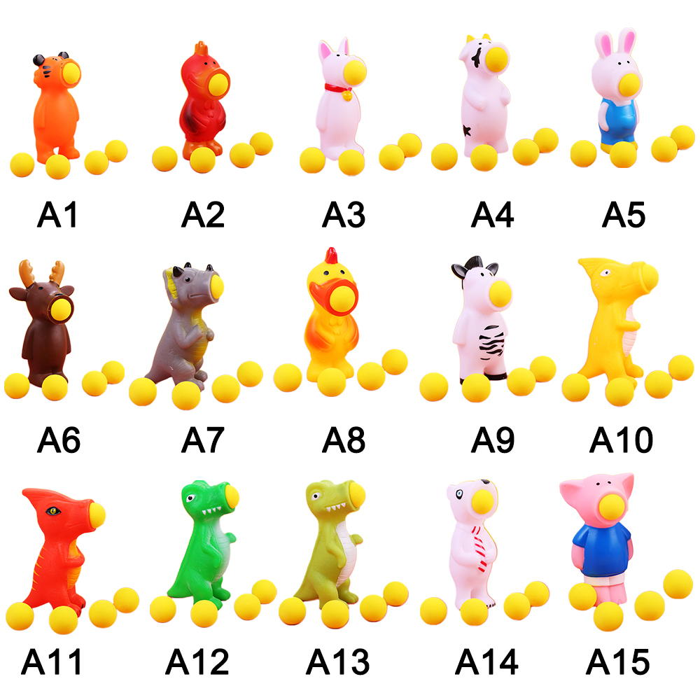 Kids Children Funny Squeeze Toys Creative Dolls Toys Stress Relief Spit Balls Animal Shooting Toys Children Amused Squeeze Toy