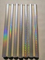 Holographic foil transparent foil different design mixed stamping foil hot press on paper or plastic 64cm x 120m transfer