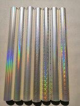 Folha holográfica folha de carimbo quente da folha transparente design diferente misturado imprensa em papel ou plástico 64 cm x 120 m transferência