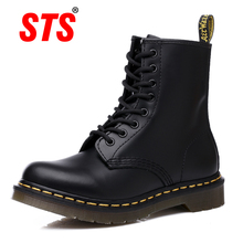 STS Brand 2019 New PU Leather Ankle Boots Women Plus size Luxury  Boot Motorcycle Booties Casual Shoes
