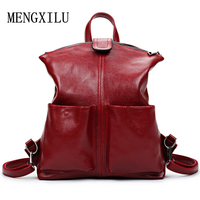 Women Backpack High Quality PU Leather Mochila Escolar School Bags For Teenagers Girls Top-Handle Large Capacity Student Package