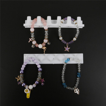 Adhesive Jewelry Display Hanging Earring Ring Hanger Holder 2
