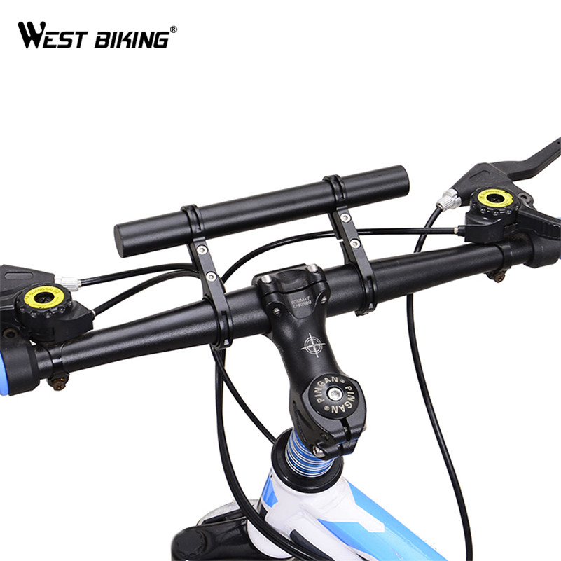 West Biking Double Mountain Bike Handlebar Extender 25 4