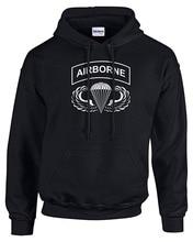 Shirts Mens Airborne Hoodie Large Black Hoodies Sweatshirts