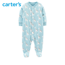 1pcs Cute giraffe print jumpsuit  babysuit Carter's baby boy fall winter clothing 115G588