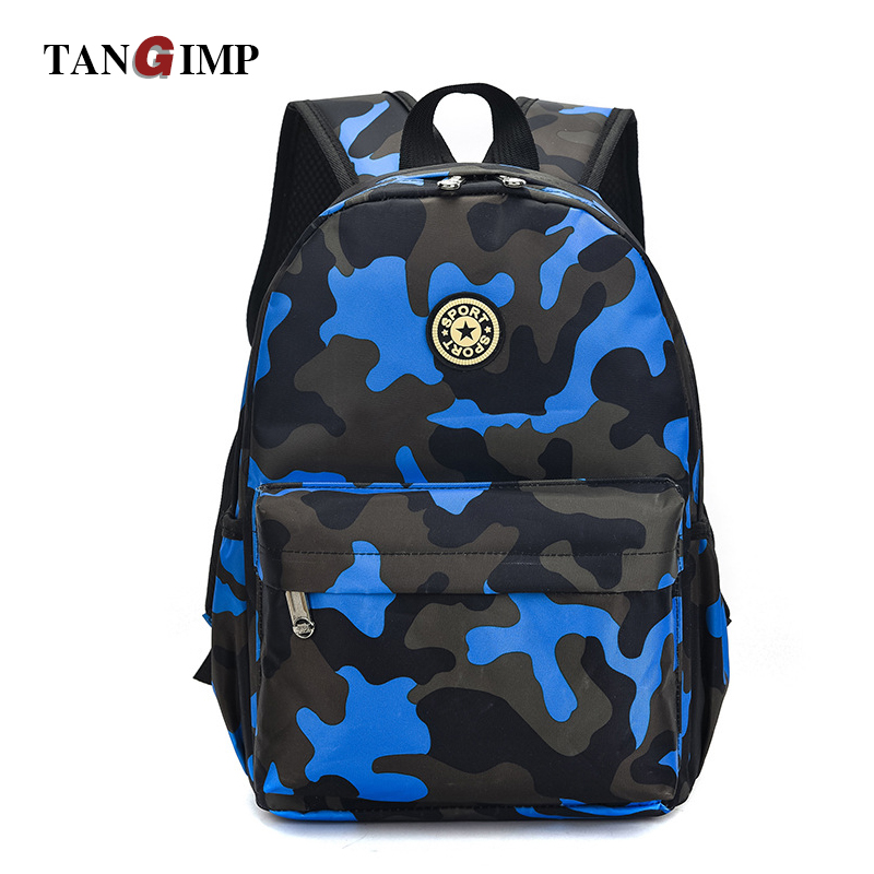 TANGIMP Camouflage Backpack for Primary Students 1-6 Grades Schoolbags Male Oxford Zipper Backpack rugzak Kids bookbags S-L spelling grades 1 2