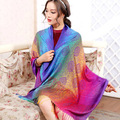 Winter Scarf Fashion Wool Spain Scarf Women Rainbow Thick Scarves Shawl for Women 2015 Large cotton shawl cloak Christmas gift