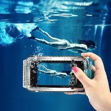 Xingduo 40 m ipx8 impermeable natación submarinismo vivienda case cover para iphone 6 6s