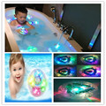 LED Luz Niños Juguetes Divertidos Coloridos Juguetes de Baño A Prueba de agua en la Bañera de Baño de Marca de Alta calidad libre del envío
