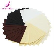 Satış! Lucia el sanatları 12 adet/grup 1mm 10*12.5cm dokuma olmayan keçe kumaş DIY el yapımı dikiş malzemeleri aksesuarları b1402