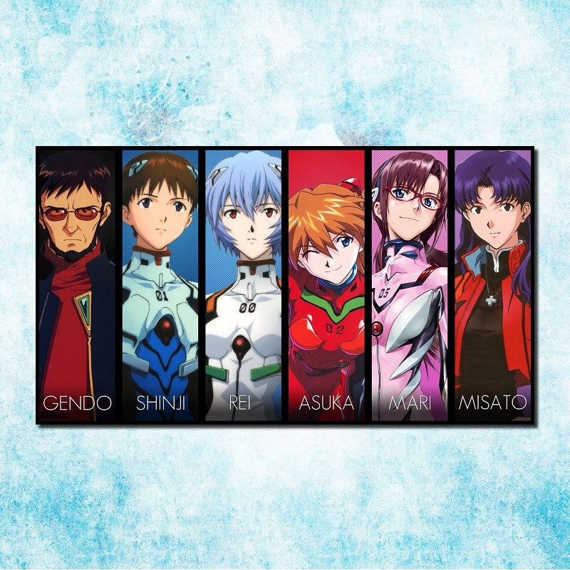 Genesis Evangelion Ayanami Rei Fighting Anime Art Silk Poster 13x24inch Neon