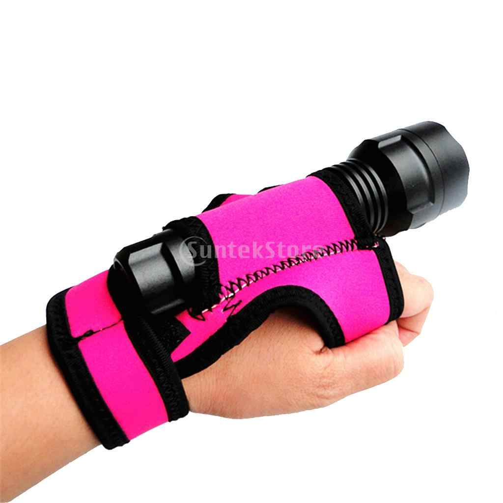 2x Adjustable Durable Scuba Diving Diver Hand Free Torch Flashlight Light Holder