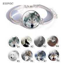 Wolf Silver charm Bracelet  Cool Photo cuff Best Mens Women Charm Gift