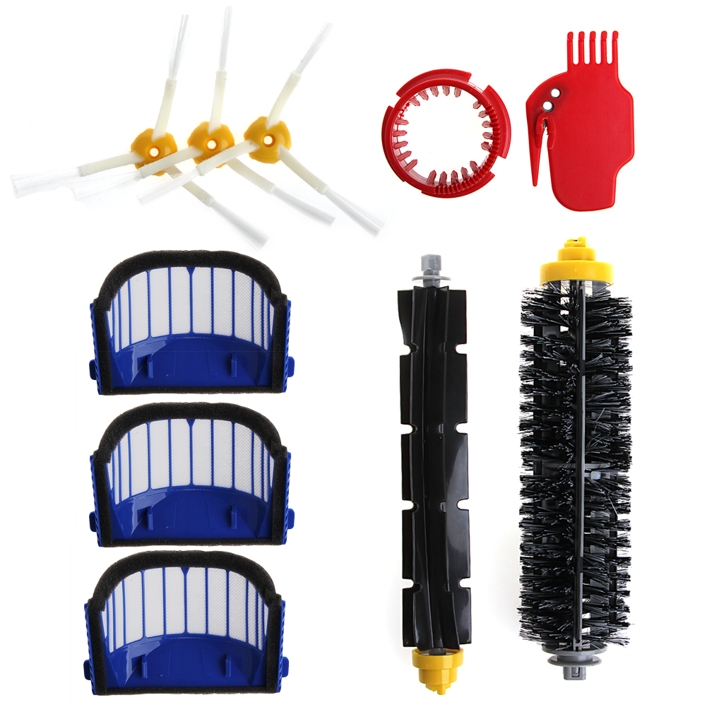10pcs Filter/Cleaning Replace Vacuum Cleaner Filter Accessories Cleaning Spare Parts Kits For iRobot Roomba 650 620 610 60010pcs Filter/Cleaning Replace Vacuum Cleaner Filter Accessories Cleaning Spare Parts Kits For iRobot Roomba 650 620 610 600
