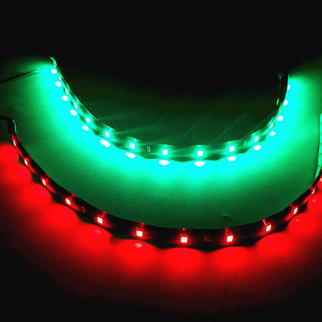 Green Led Light Strip Hot 2pcs 12 car red green led navigation atmosphere strip light hot 2pcs 12 car red green led navigation atmosphere strip light waterproof for car audiocablefo