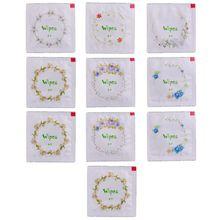 10 шт портативный мультфильм цветочный принт форма презерватива влажные салфетки ткани для чистки лица путешествия случайный цвет