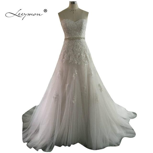 Leeymon Vintage Spitze Brautkleid Plus Size Brautkleider Sexy Schatz ...