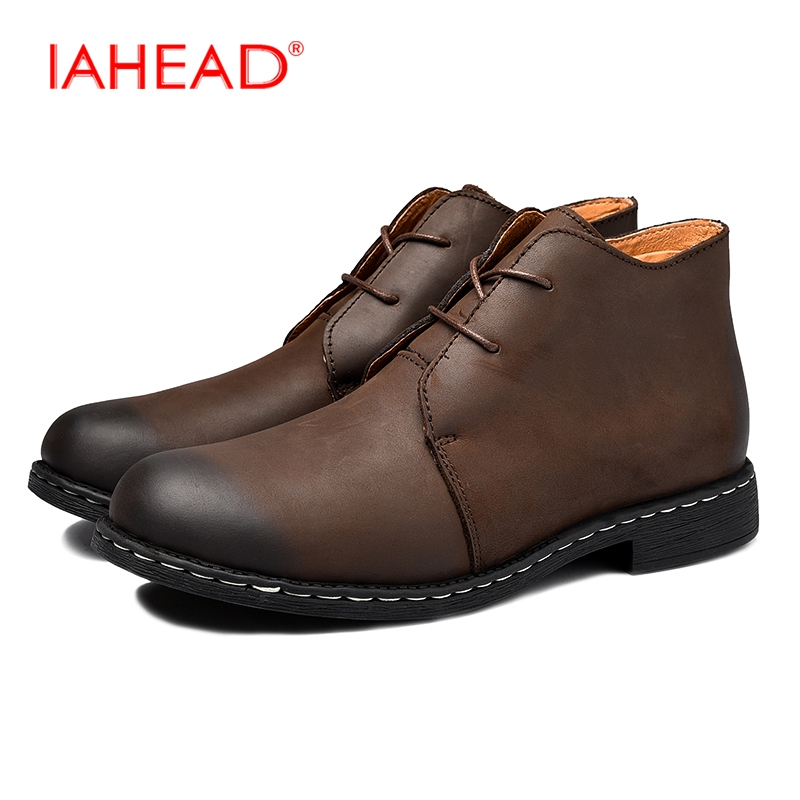 Fashion Genuine Leather Men Boots Men Boots Work Snow Boots Fluff Beep Warm Winter Shoes Men Shoes Lace-Up Safety Boots MH518 thick men s work boots men lace up leather waterproof shoes unisex with short plush winter outdoor men s velvet warm snow boots