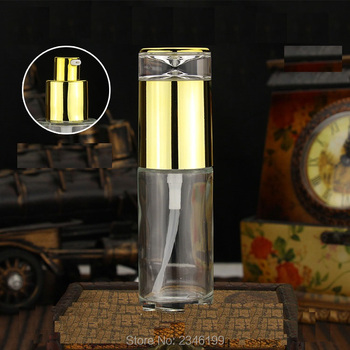 40ML 16Pcs/Lot  Top Grade Empty Glass Bottle With Gold Ring And Silver Transparent Sub Bottle.