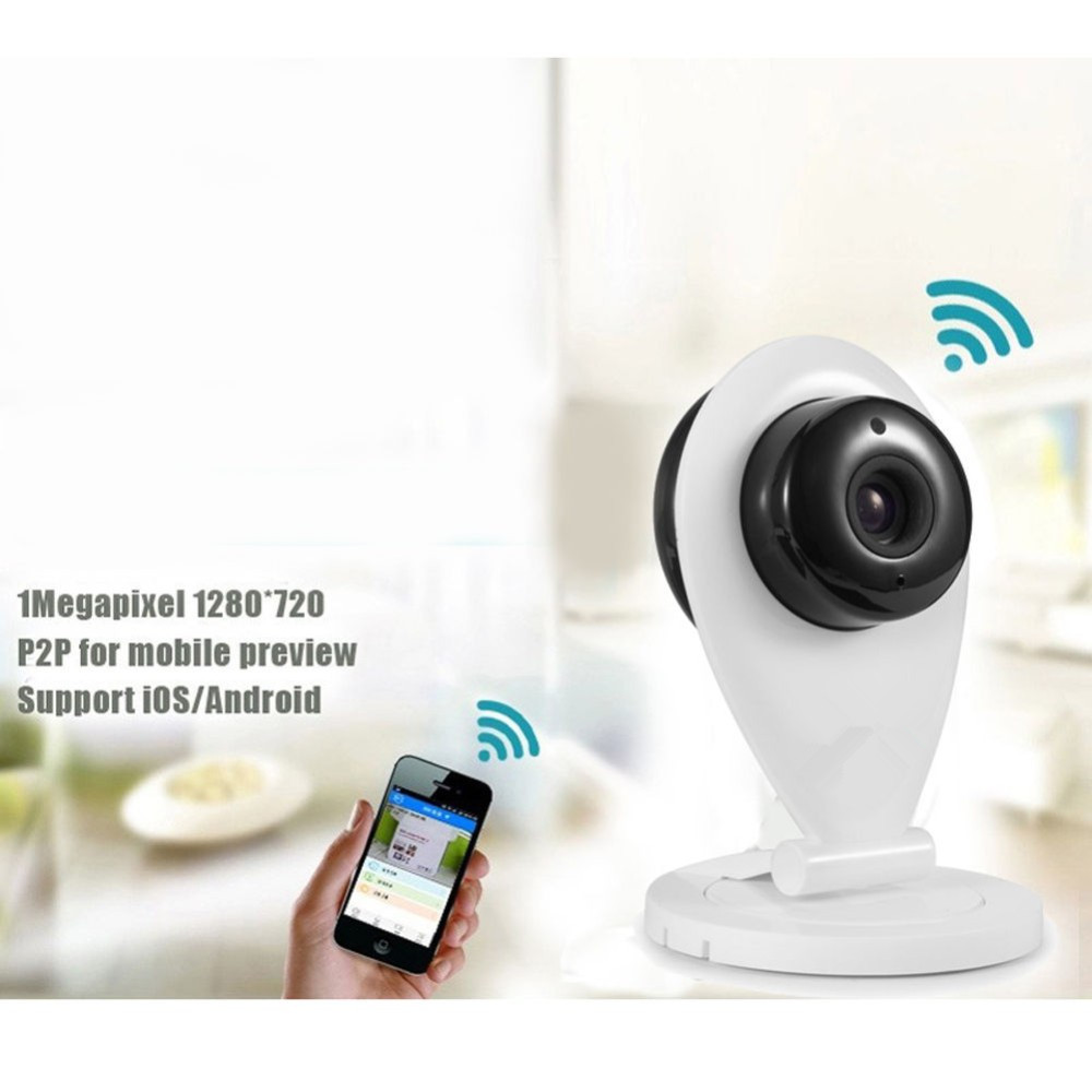 Wifi Wireless IP Camera 720P 1.0MP With IR-CUT CCTV Security ONVIF Baby Monitor 128GB SD Card Motion Detection EU US Plus wifi wired security ip camera 1080p 2 0mp onvif p2p ir cut motion detection with sd card remote viewing bullet cctv security cam